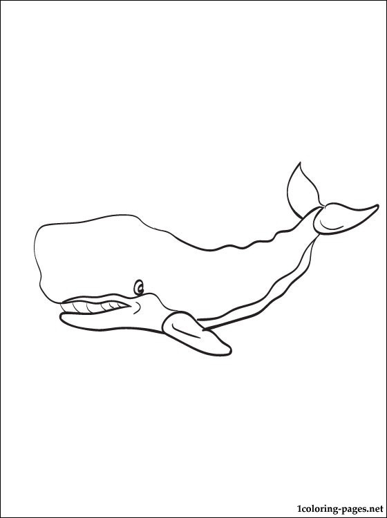 Cachalot Or Sperm Whale Coloring Page