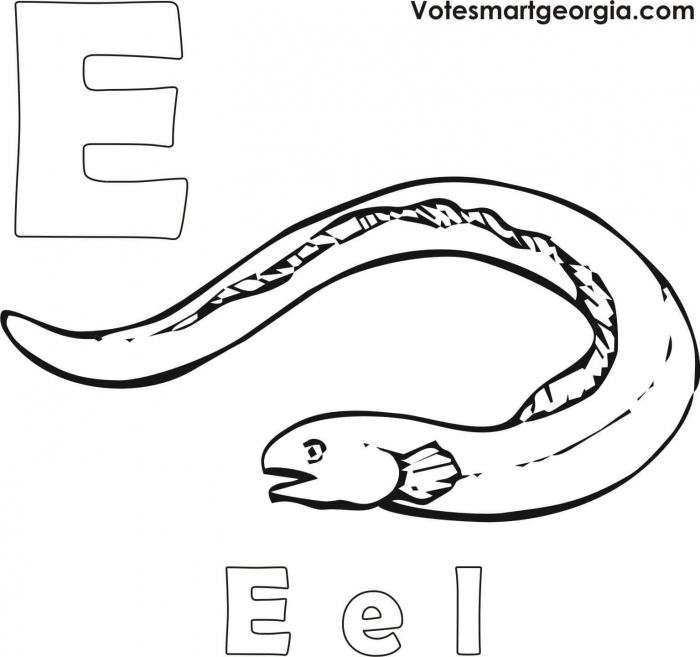 Free Eel Coloring Pages Printable