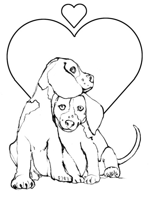 Valentine Coloring Pages Puppy Valentine Coloring Pages  Pupply