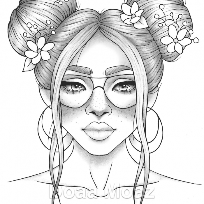 Coloring Pages  Coloring Pages Sheets Girl Pin On Faces Ladies