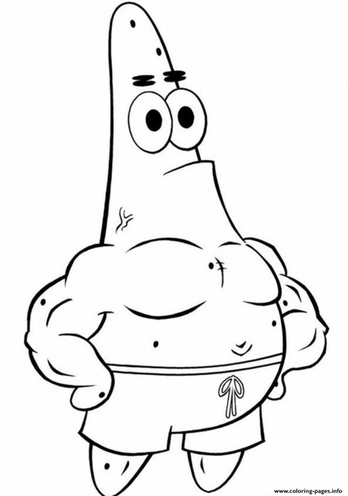 Coloring Pages Spongebob Patrick Star Coloring Pages Printable