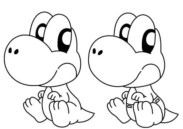 Excellent Picture Of Yoshi Coloring Pages