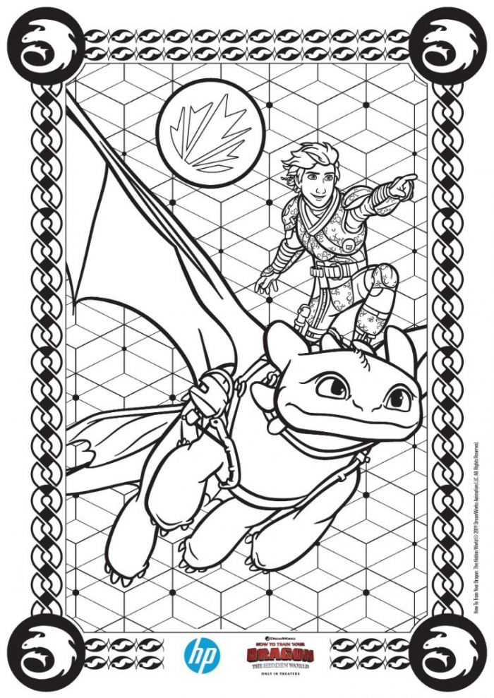 How To Train Your Dragon The Hidden World Prints From Hp