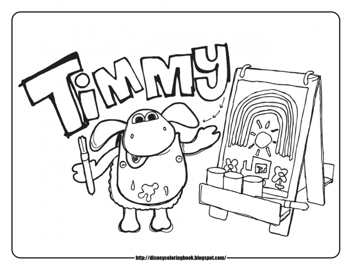 Magic Colour Pencil Timmy Time  Free Disney Coloring Sheets