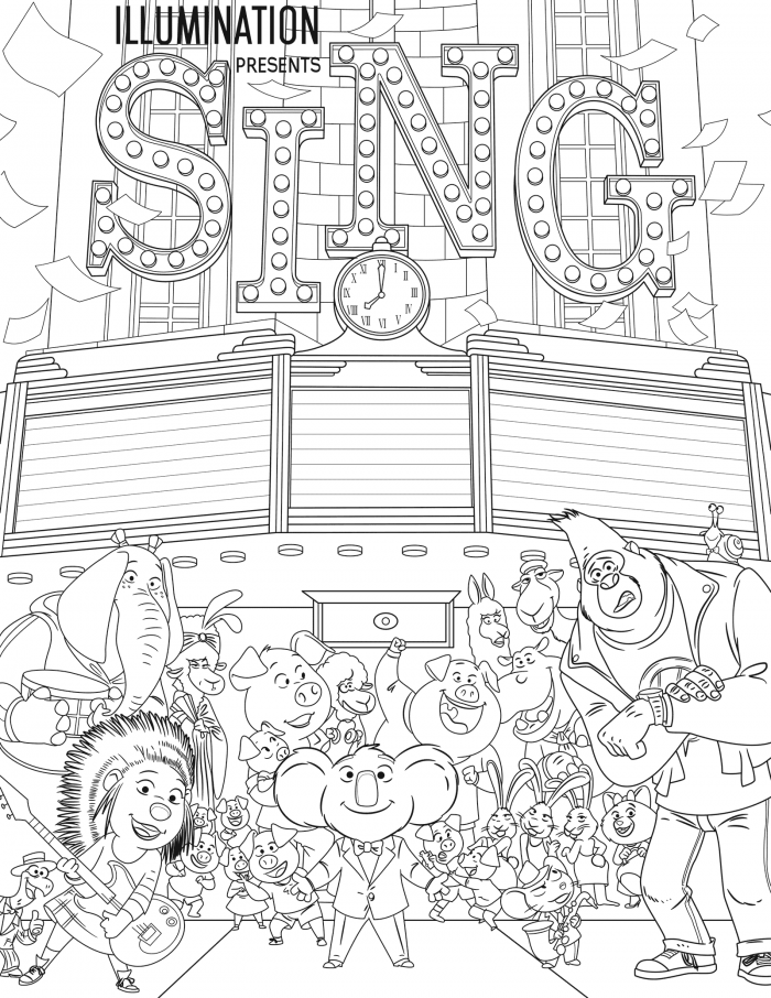 Sing Coloring Pages