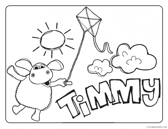 Timmy Time Coloring Pages Tv Film Kite Printable