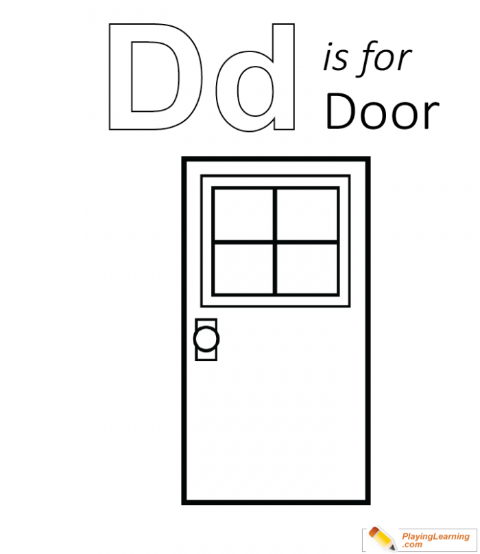 D Is For Door Coloring Page