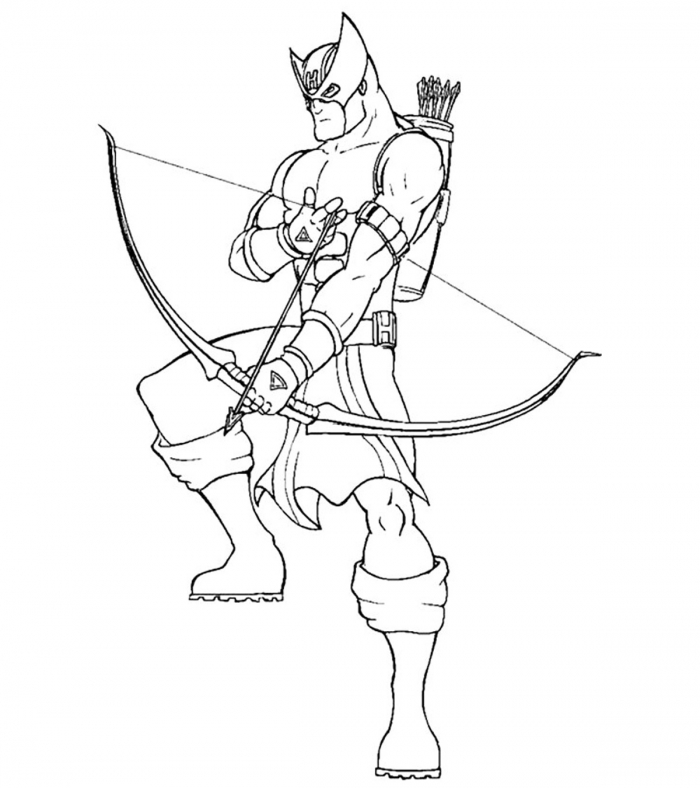 Top  Hawkeye Coloring Pages For Toddlers