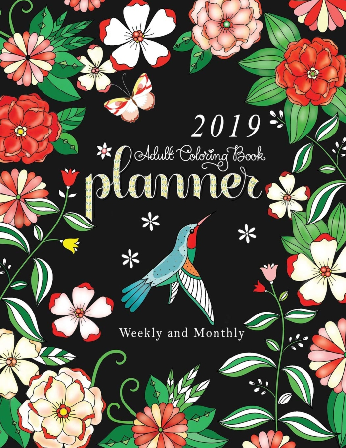 Adult Coloring Book Planner Weekly And Monthly  Month
