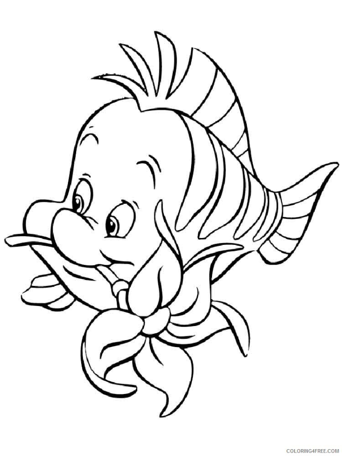 Flounder Coloring Pages Flounder  Printable