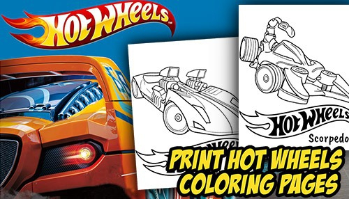 Hot Wheels Coloring Pages Arrived
