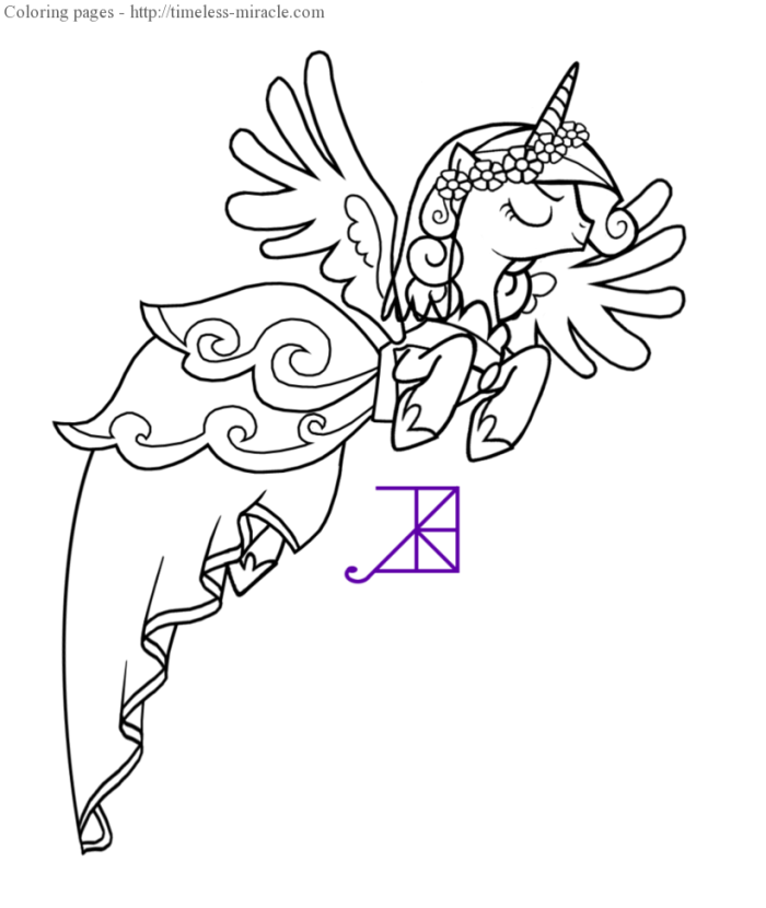 Mye Pony Princess Cadence Coloring Pages Photo Book