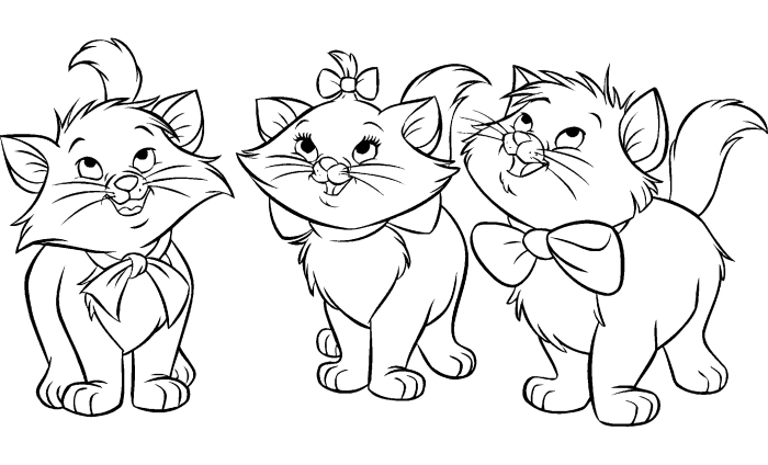 The Aristocats To Color For Children